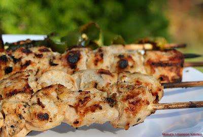 Lebanese Shish Tawook Chicken Kabob