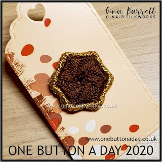 One Button A Day 2020 by Gina Barrett - Day 105 : Favour
