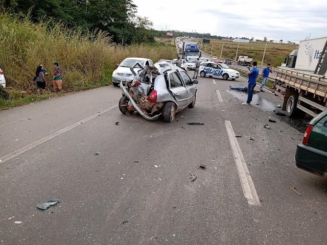 Grave acidente na GO-020 sentido Senador Canedo / Goiânia