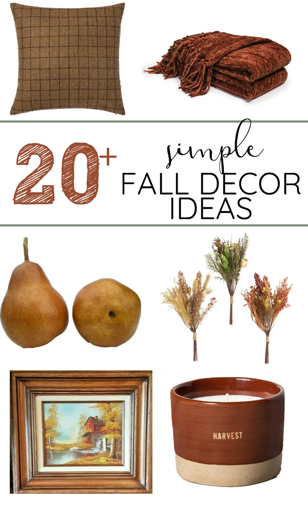 Subtle and minimal fall decor ideas. Cozy fall vibes without pumpkins.