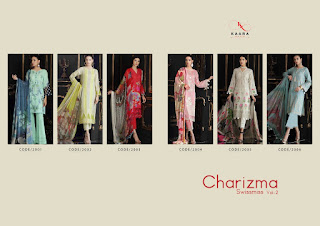Kaara Suits Charizma SwissMiss Vol 2 Cotton Pakistani Suits Collection