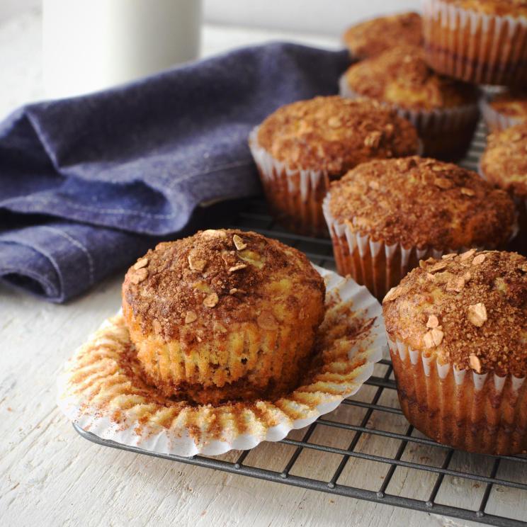 Receta para preparar muffins de avena con canela