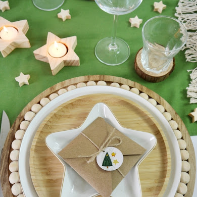 Neutral Farmhouse Christmas Tablescape with Easy DIY Décor