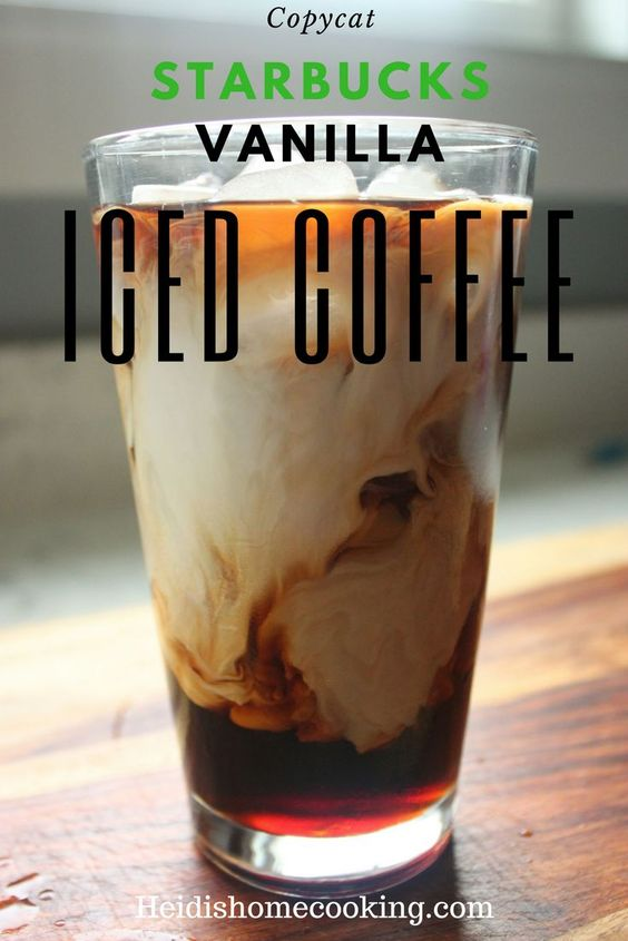 Copycat Starbucks Vanilla Iced Coffee