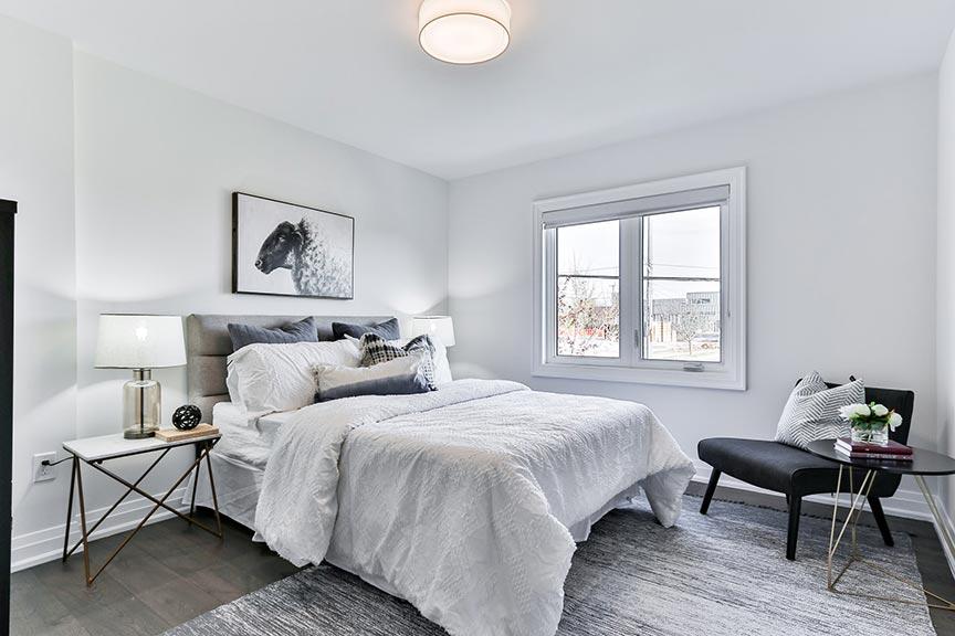 Stylish grey bedroom