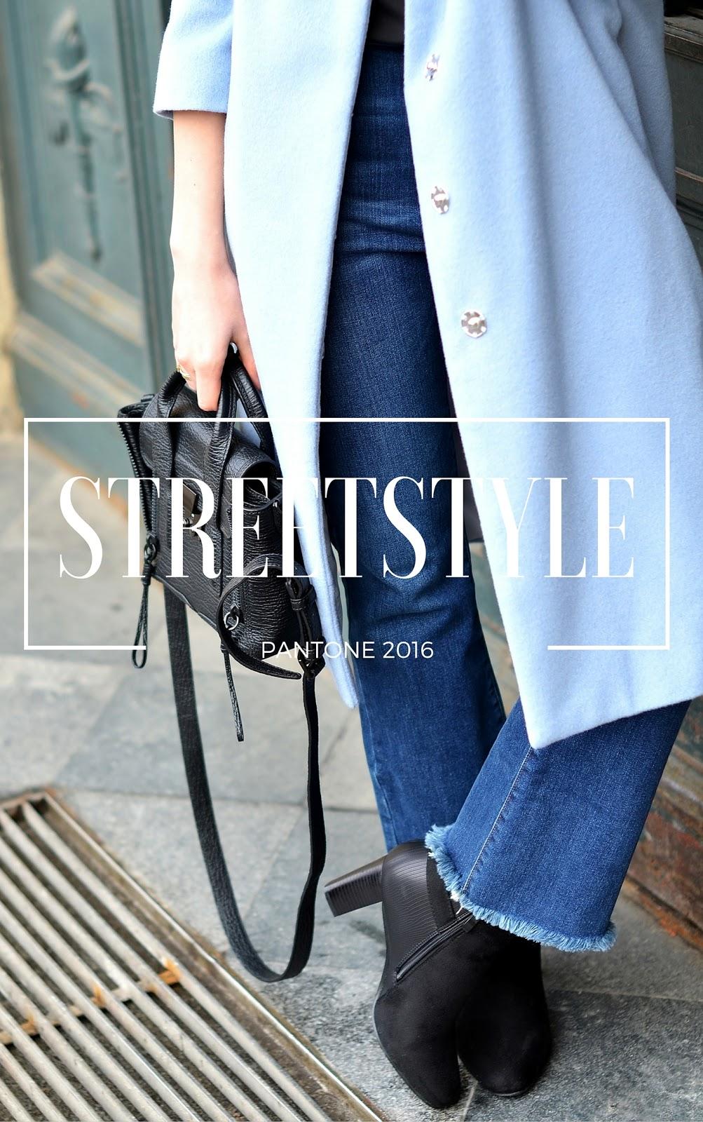 blog modowy | blogerka | motywacyjne teksty | blekitny plaszcz w kolorach pantone