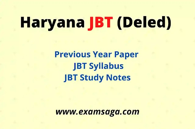 Haryana Deled/JBT Previous Year Questions Paper With JBT Syllabus 2021