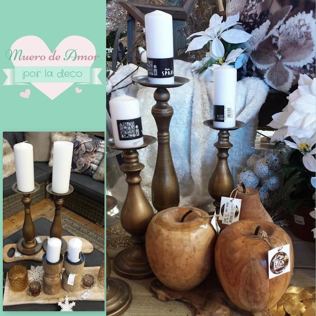 Decoración candelabros y manzanas-VERDECORA-BY ANA OVAL