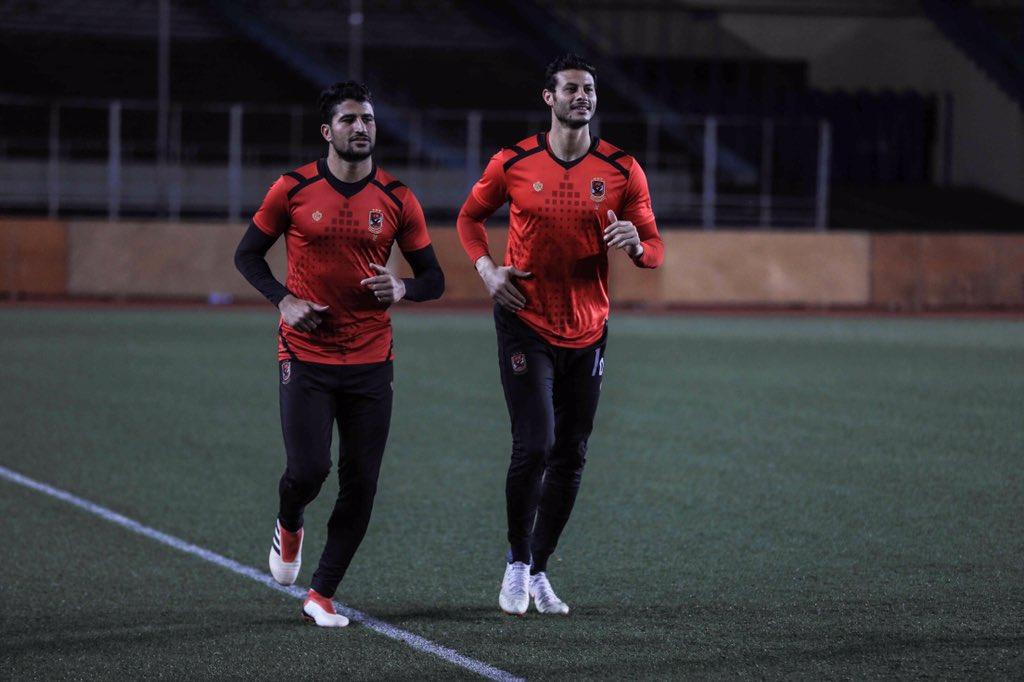 تمرينات فريق الأهلي بالكونغو استعدادا لفيتا كلوب #YallaYaAhly