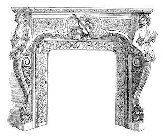 fireplace download image antique illustration