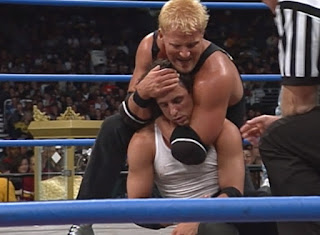 WCW Starrcade 2000 - Jeff Jarrett puts Billy Kidman to sleep