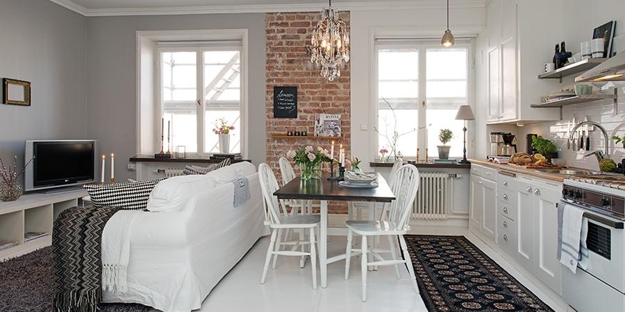 Mały apartament o powierzchni 36m² - wystrój wnętrz, wnętrza, urządzanie mieszkania, dom, home decor, dekoracje, aranżacje, styl skandynawski, scandinavian style, białe wnętrza, white home, małe wnętrza, small apartment, salon, living room