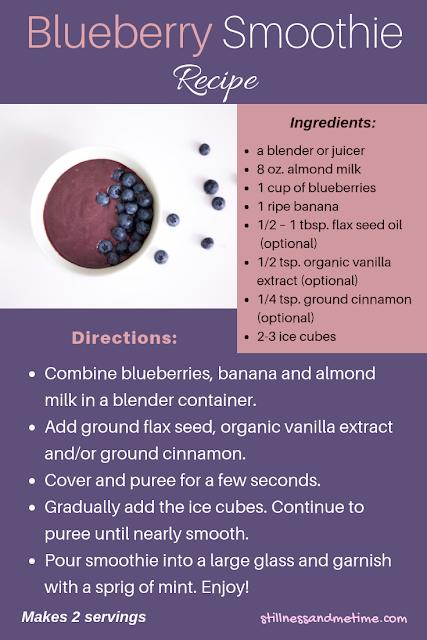 Simple Blueberry Smoothoe Recipe