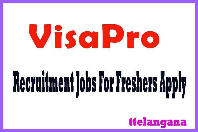 VisaPro Recruitment Jobs For Freshers Apply