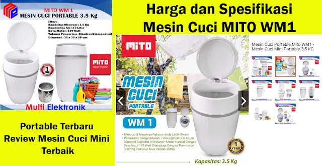 Harga dan Spesifikasi Mesin Cuci MITO WM1 Portable Terbaru Review Mesin Cuci Mini Terbaik