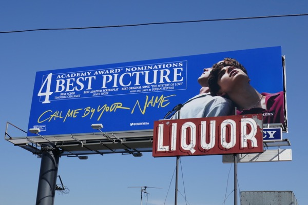 Call Me By Your Name 4 Oscar nominations billboard