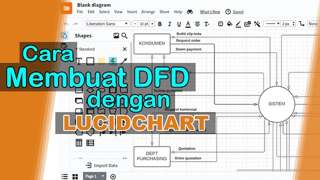 cara membuat dfd dengan menggunakan lucidcart
