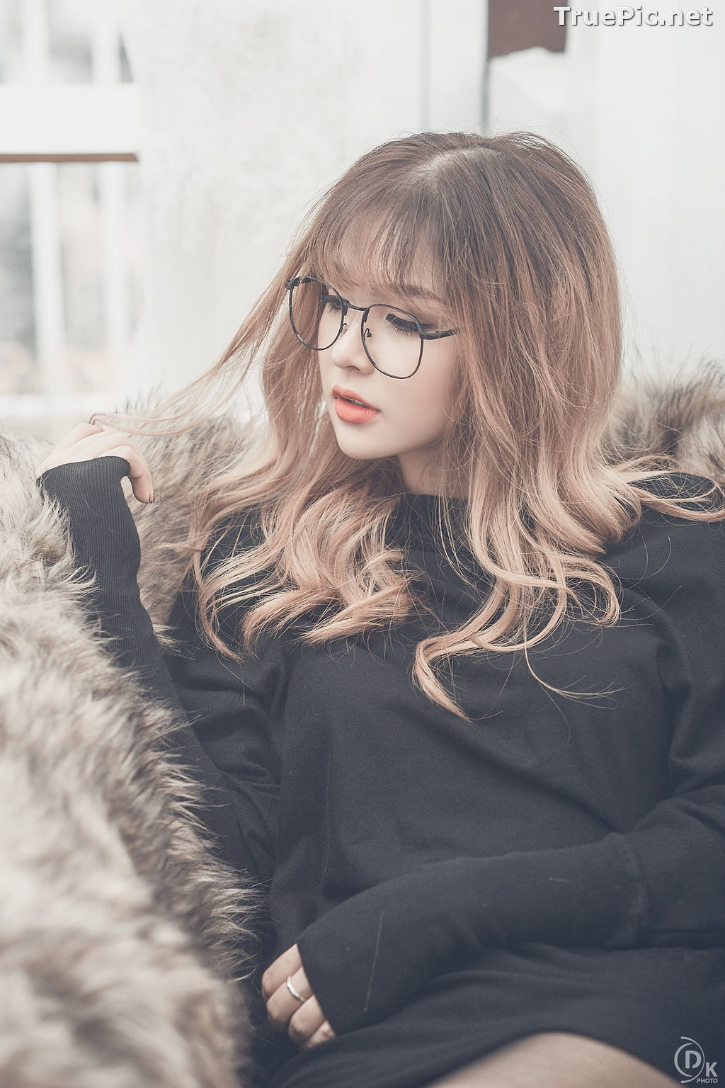 Image Vietnamese Model - Cute Glasses Girl With Black Dress - TruePic.net - Picture-6