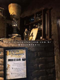 Imagem hamburgueria/restaurante harry potter lareira