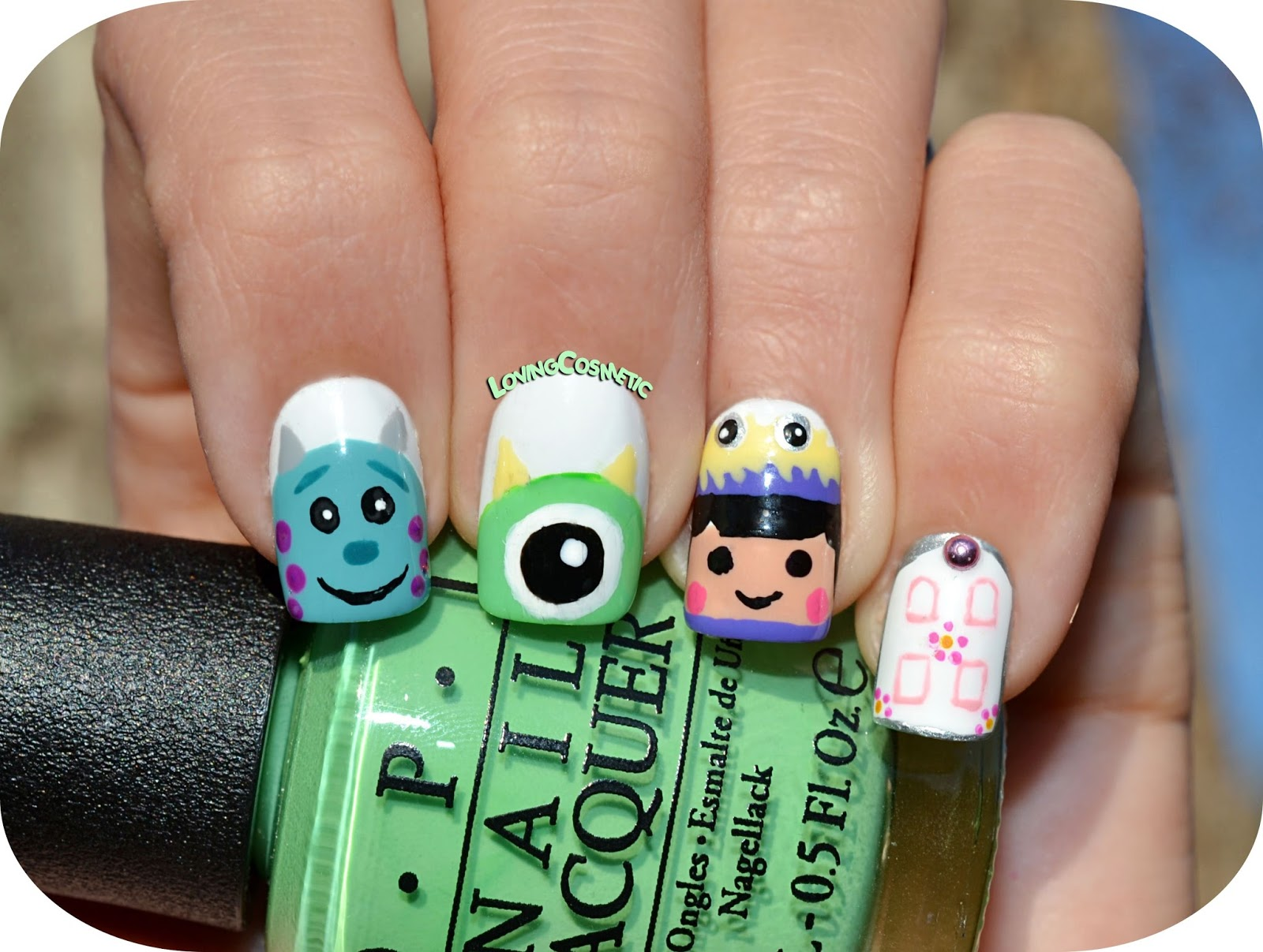 Nail Art - Monstruos S.A. Kawaii ~ LovingCosmetic