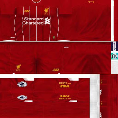 ultigamerz: PES 6 Liverpool 2019-20 Full GDB Kits