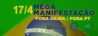 Bandeira do Brasil fora DILMA fora-PT, Para rede social