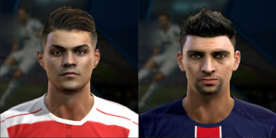 Faces Granit xhaka And Javier Pastore 2016 Pes 2013