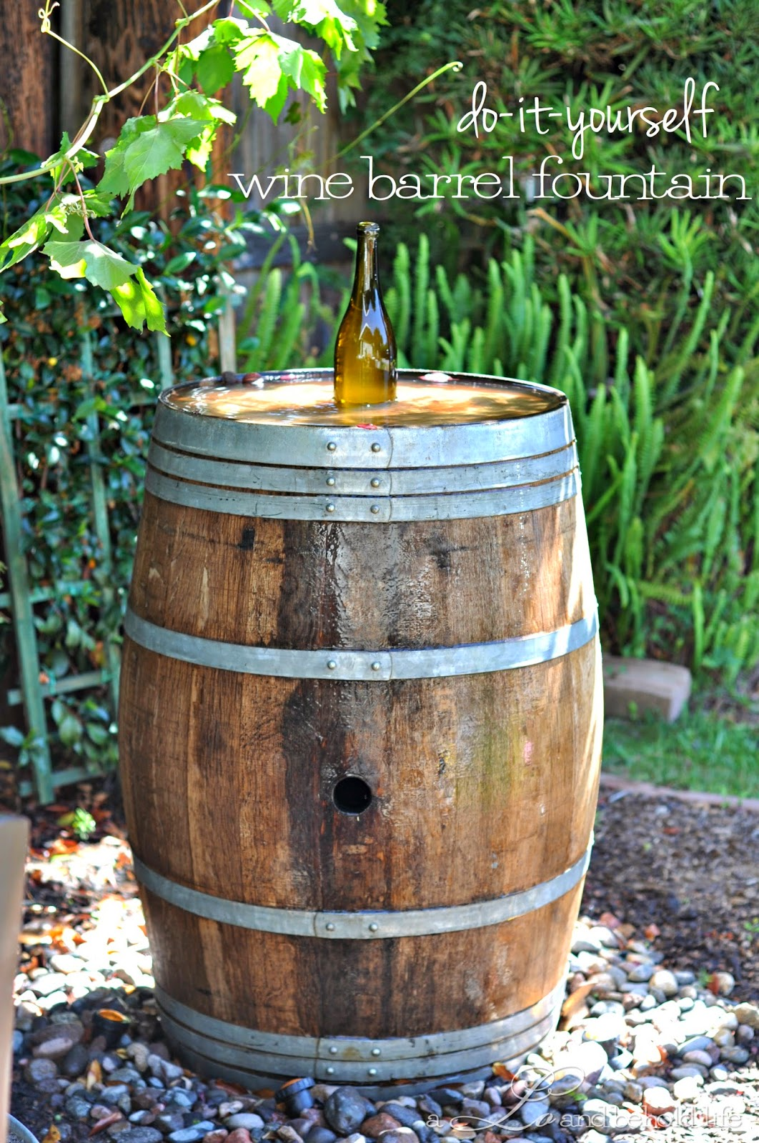 Wine Barrel Water Fountain