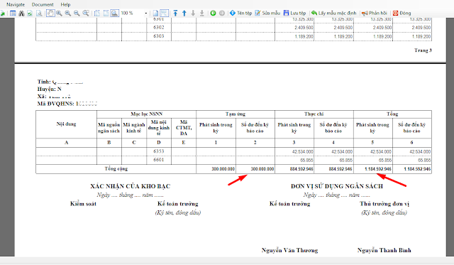 Cách sửa mẫu đối chiếu 02-SDKP/ĐVDT theo QĐ 4377 trên phần mềm kế toán XÃ MISABAMBOO.Net 2019
