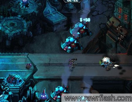 Jogos de tiro, robo, zumbi, tower defense: Robôs vs Zumbis!