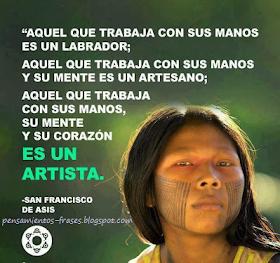 Frases Célebres Artista Francisco De Asís