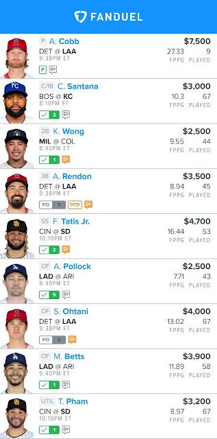 Fanduel Free MLB Lineups 06.18.21