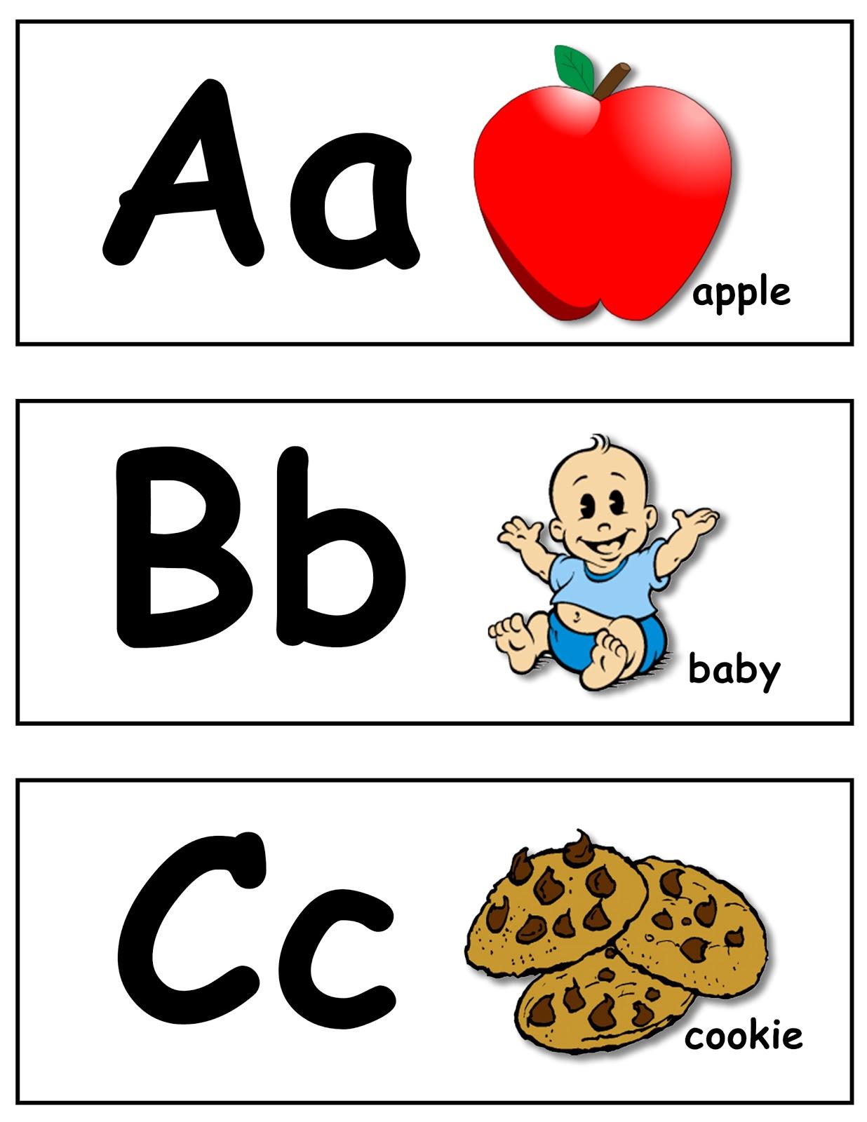 alphabet letters flash cards