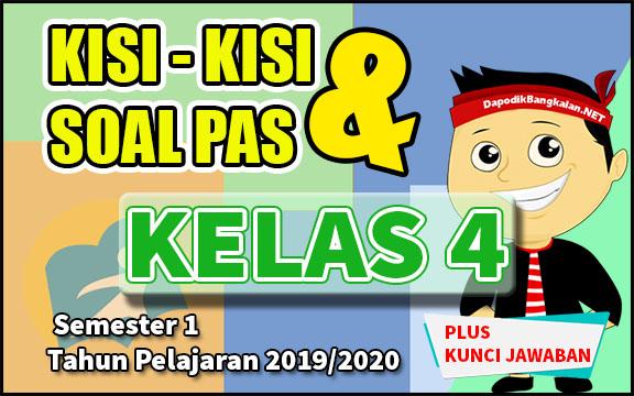KISI KISI DAN SOAL PAS / UAS KELAS 4 TAHUN PELAJARAN 2019/2020
