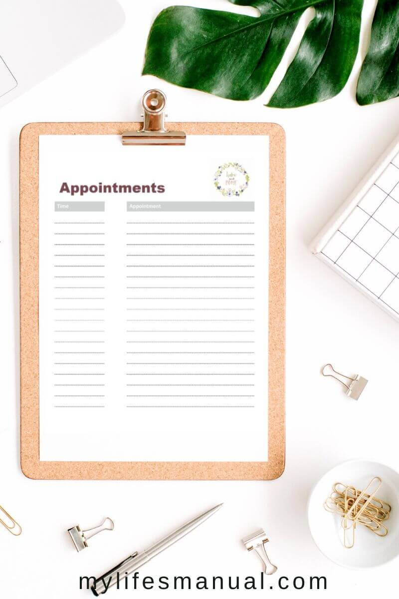 Free printables for your appointment