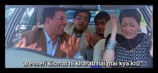Arey meri kismat hi kharab hai mai kya karu, Akshay kumar as rajeev | best welcome movie meme templates & dialogue