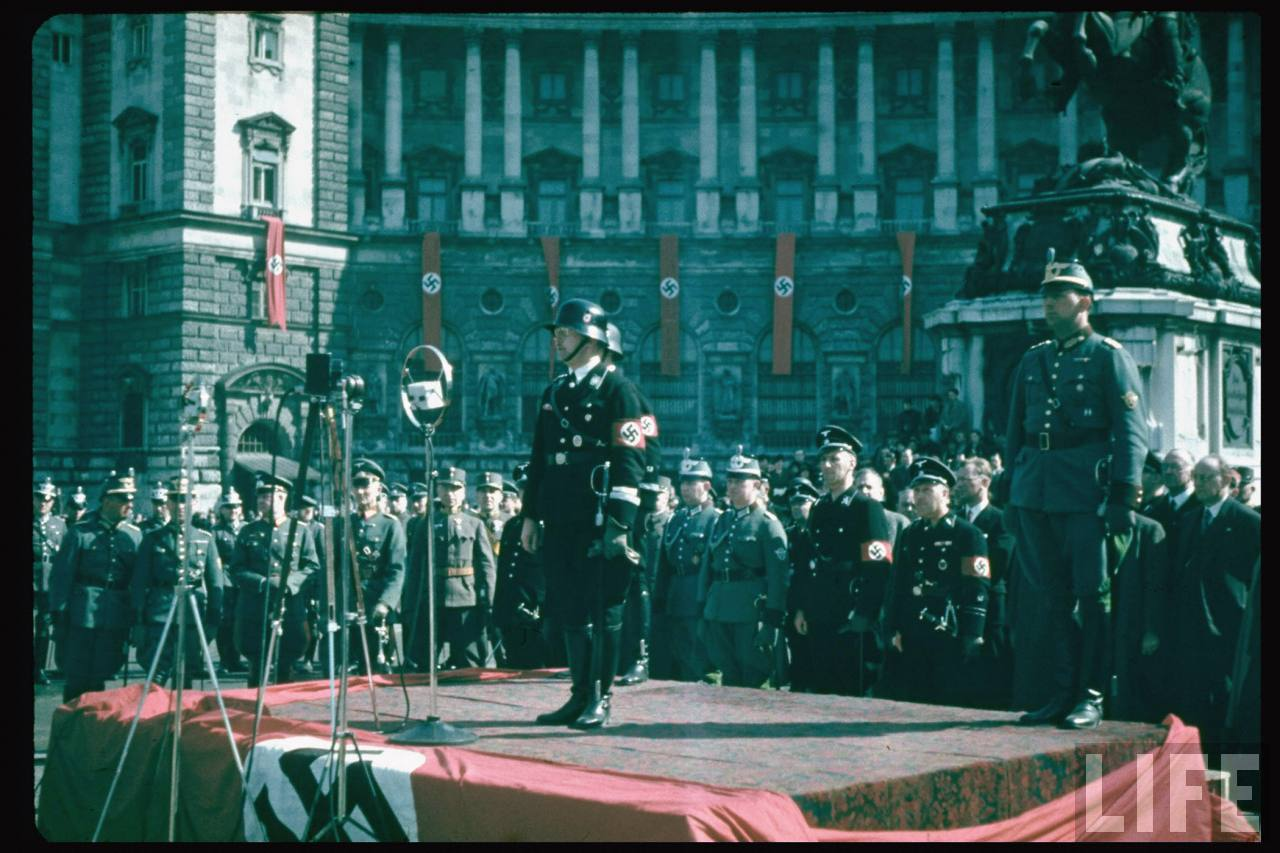 old photos of the anschluss from 75 years ago