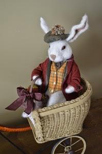 Kathleen McDonald Artwork of Rabbit in Buggy