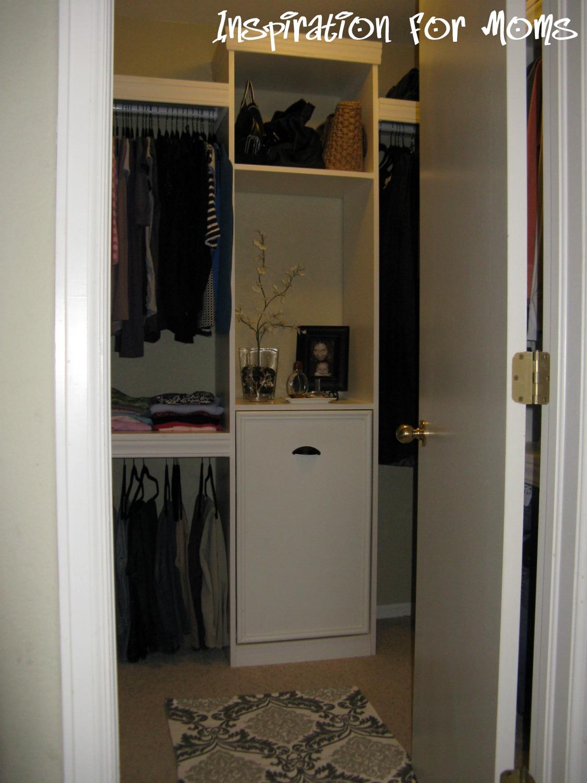 My Master Bedroom Closet Progress DIY Pull out Hamper