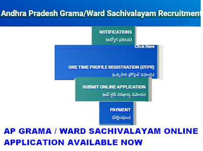 AP Grama Sachivalayam Online Application 2019 Link available now 3