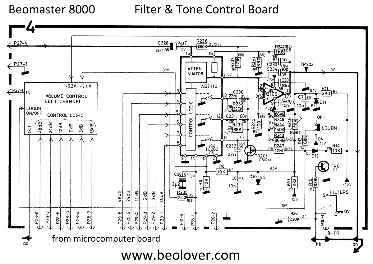 Beolover Beomaster 8000 Filter Tone Control Board Rework Circuit Diagram When I Put The Spare Next One Am Working On Could Immediately See A Difference In Boards Was Later Version Of