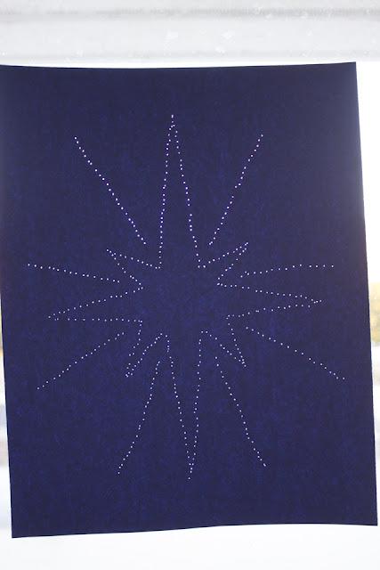How to Make Christmas Pin Prick Angel Art with Kids