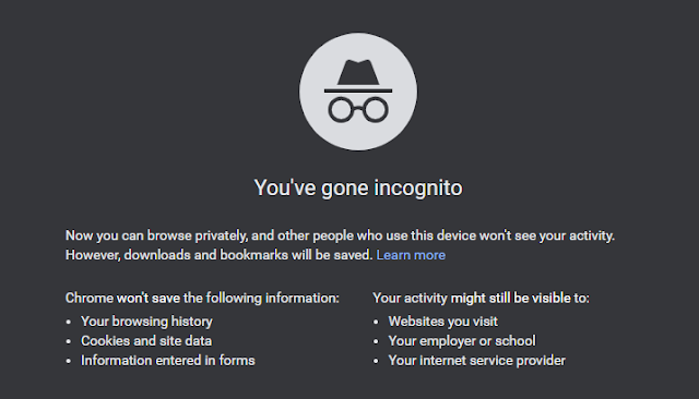 Extensions in Incognito Mode.
