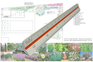 dibujar a escala, planos de jardines, planos de arquitectura, las escalas