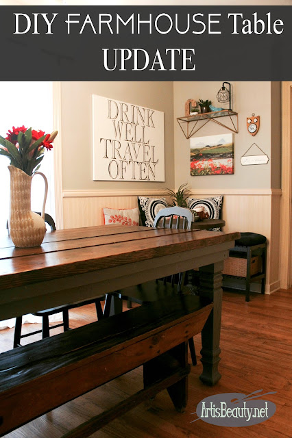 DIY FARMHOUSE TABLE UPDATE general finishes seagull gray osbourne square farmhouse dining table legs diy