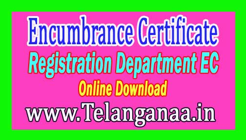 Encumbrance Certificate EC Registration Department EC Online Download