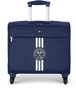 Tommy Hilfiger Polyester 45 cms Navy Softsided Check-in Luggage