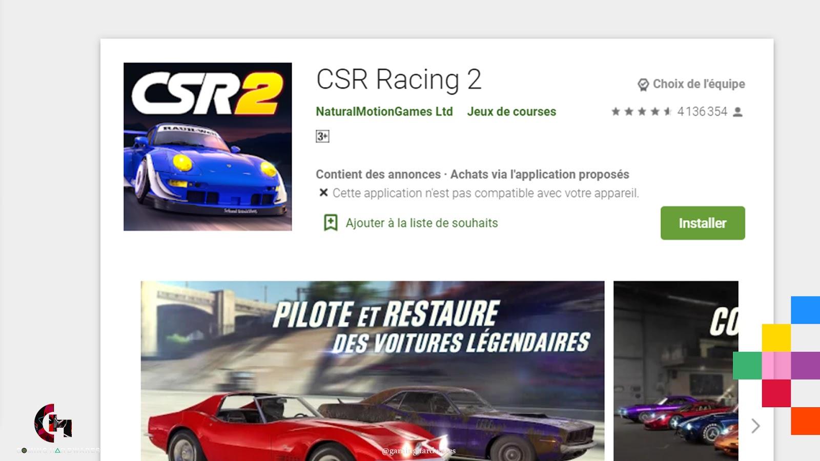 لعبة CSR Racing 2 للأندرويد