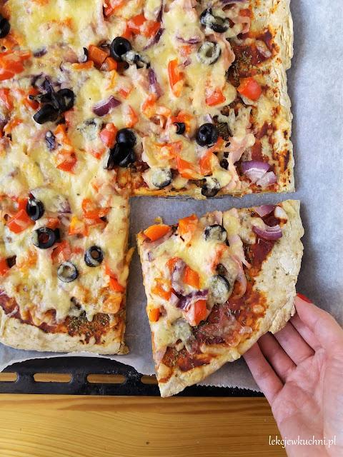 Ciasto na pizzę w 3 minuty, pizza bez drożdży przepis