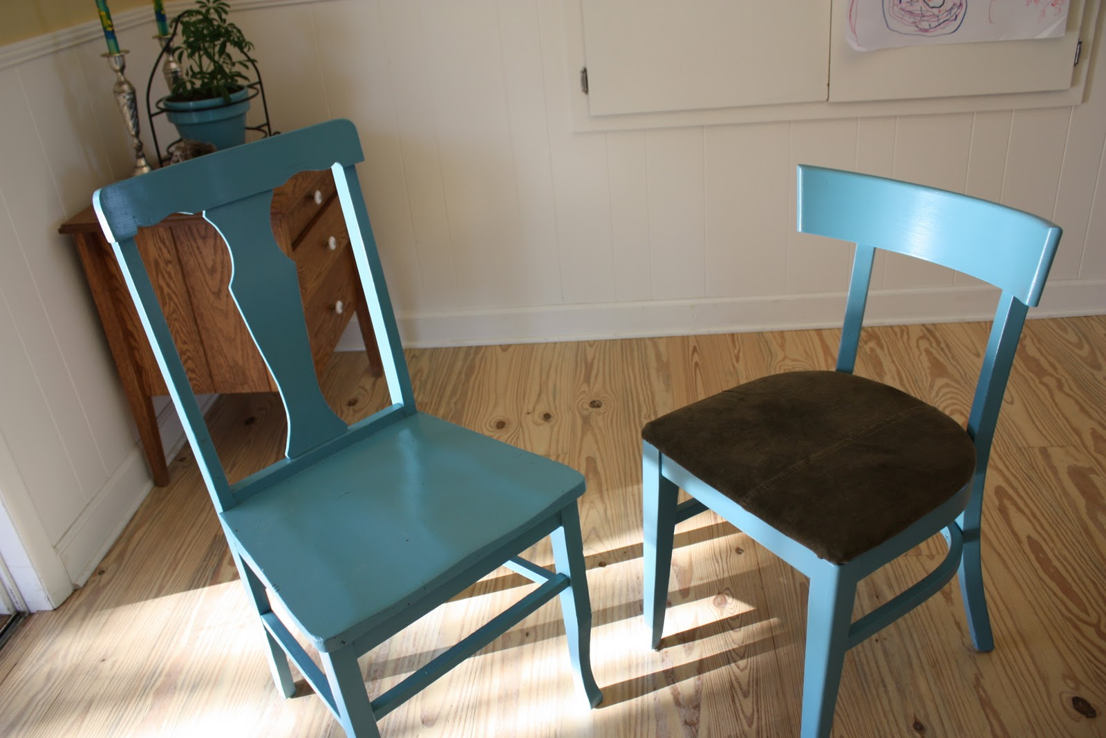 Mismatched Dining Chairs Chair Covers For Sectionals The Funky Clothespin Reluctant Room Makeover
